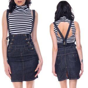 Dark wash high waisted Sailors skirt Size M